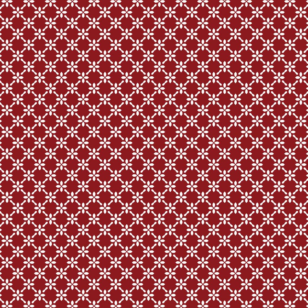 Cerca de Flores | Vermelho | Basics & Colors | Fabricart