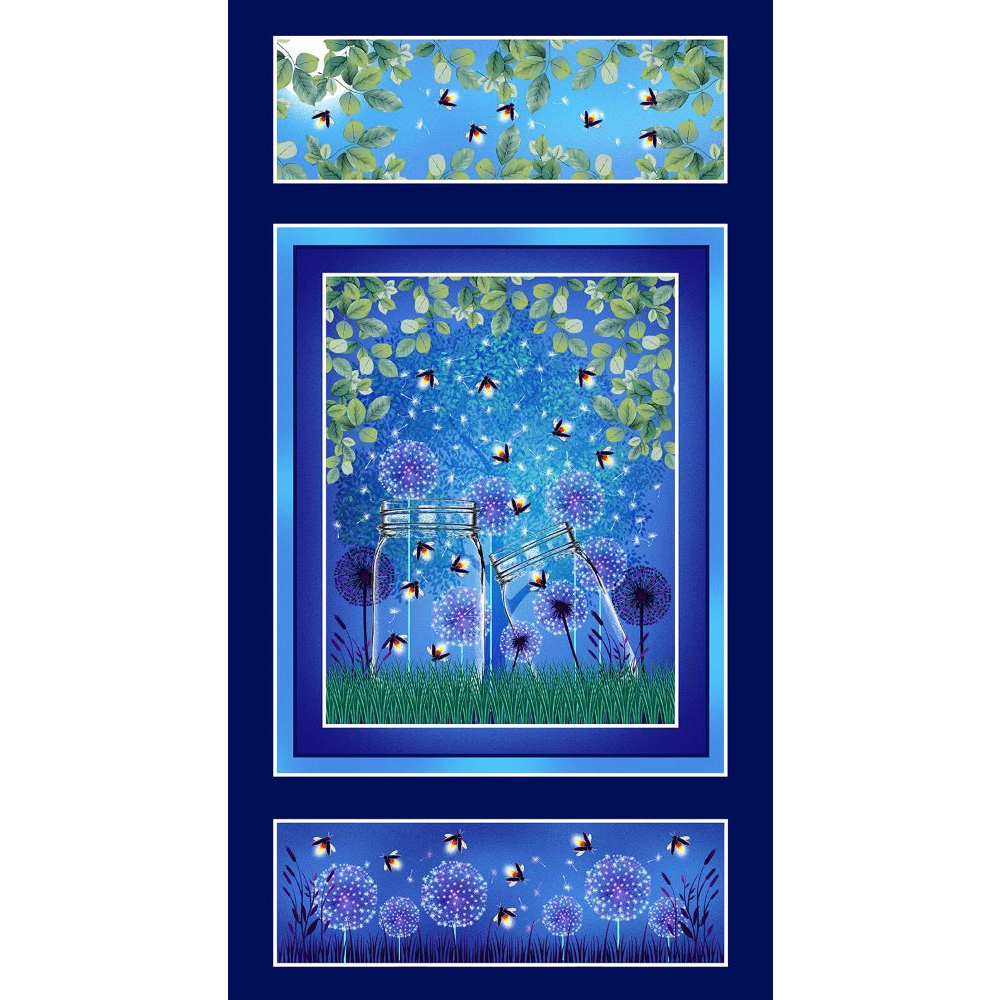 Let Your Light Shine   Banner Panel - Navy   Blank Quilting