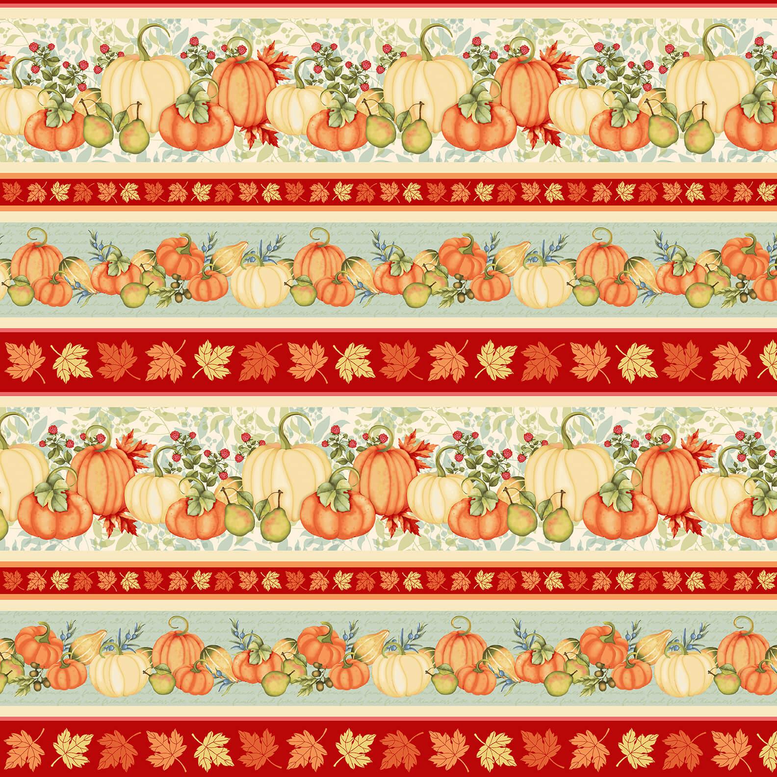 Pumpkin Spice | Border Stripe - Multi | StudioE Fabrics