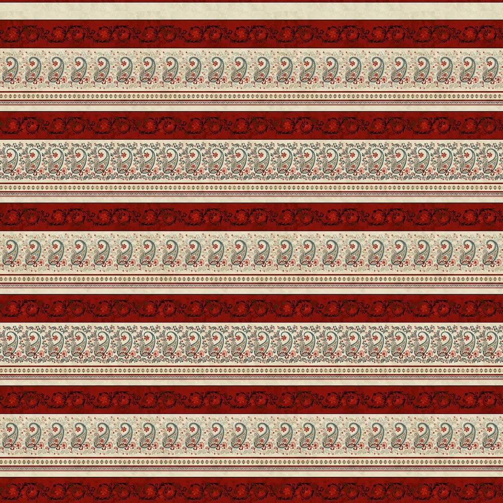 Le Poulet   Border Stripe - Cream   Studio e Fabrics