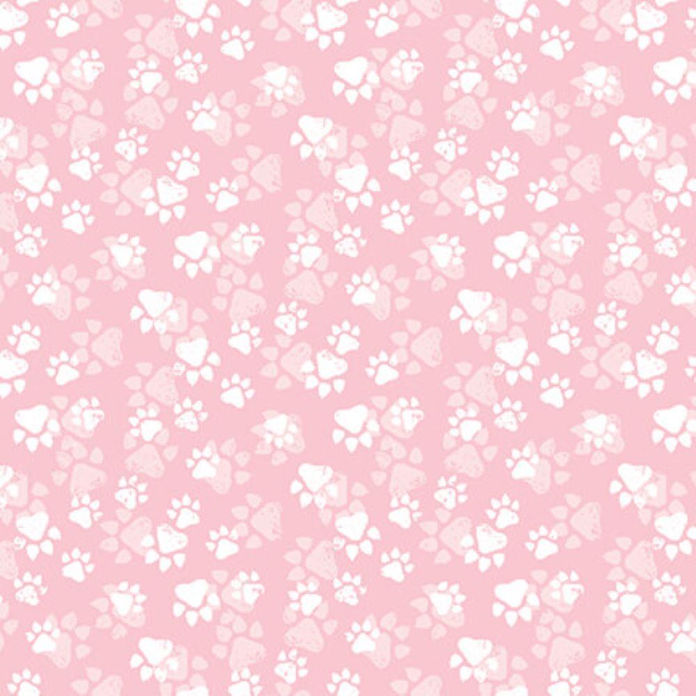 Fancy Cats   Paw Print :: Pink    StudioE Fabrics