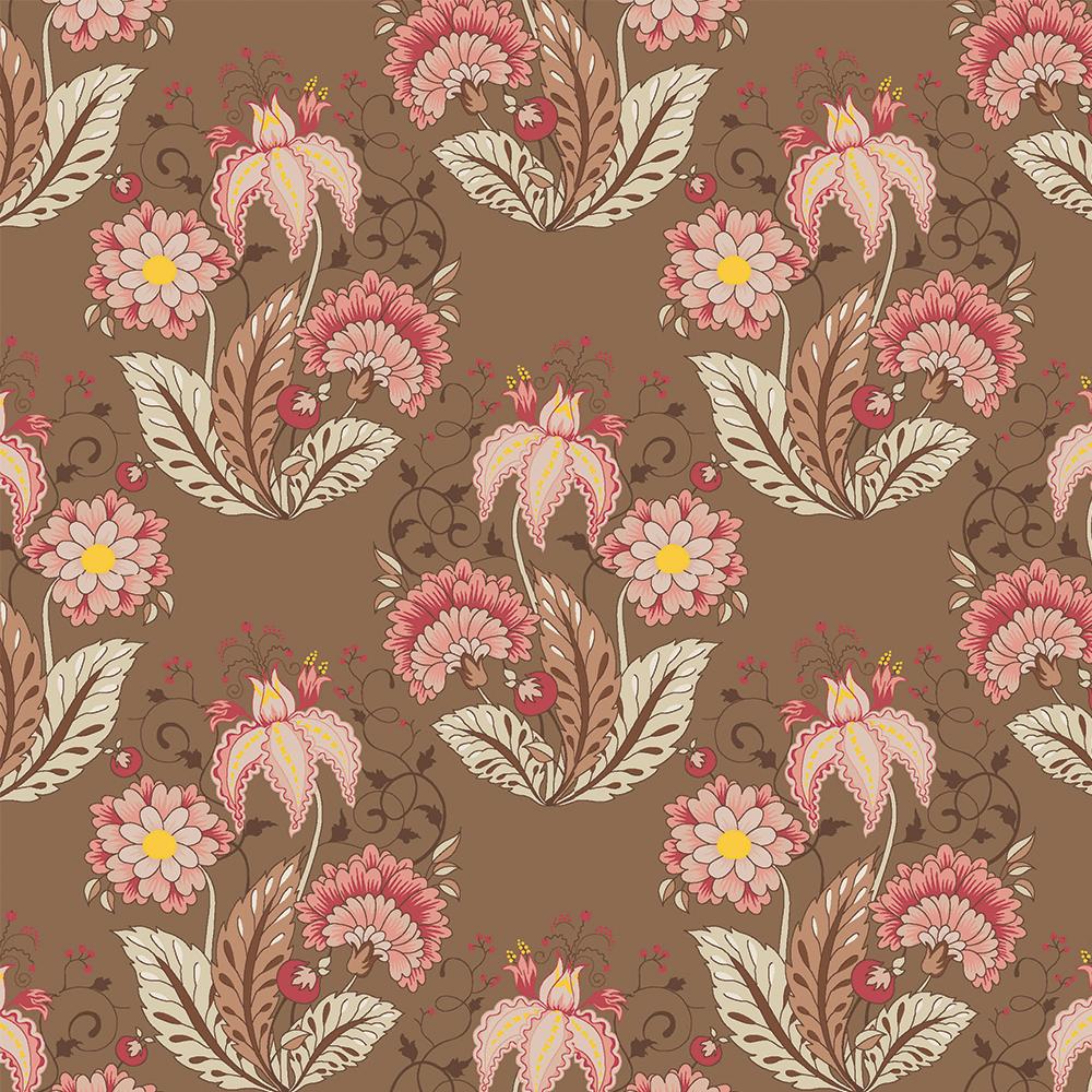 Floral Jacobean :: Marrom   Fabricart