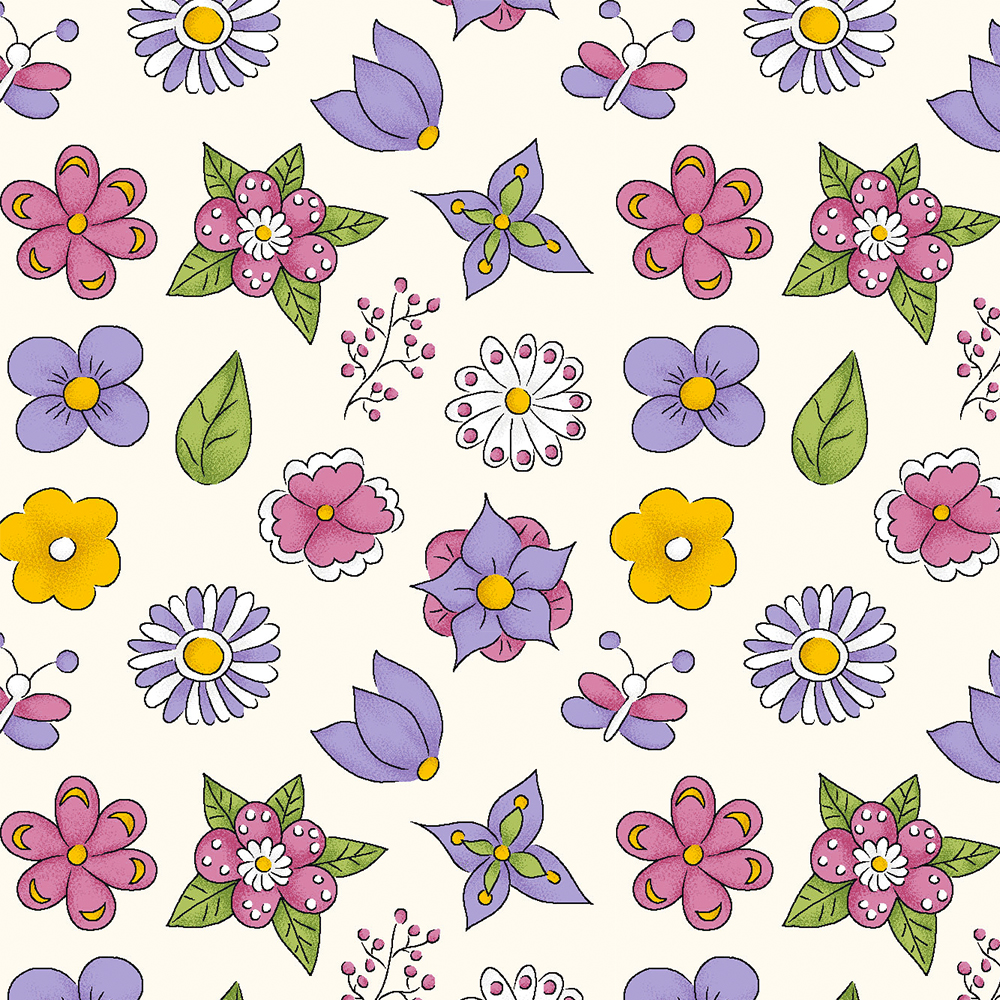 MINI FLOWER :: CREME | FOFURICES | FABRICART