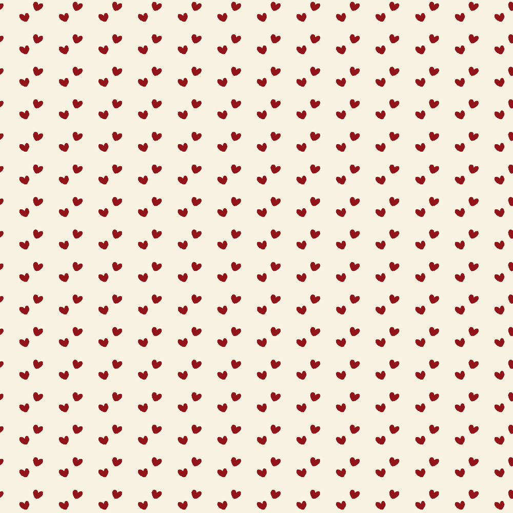Mini Corações   Vermelho   Basics & Colors   Fabricart