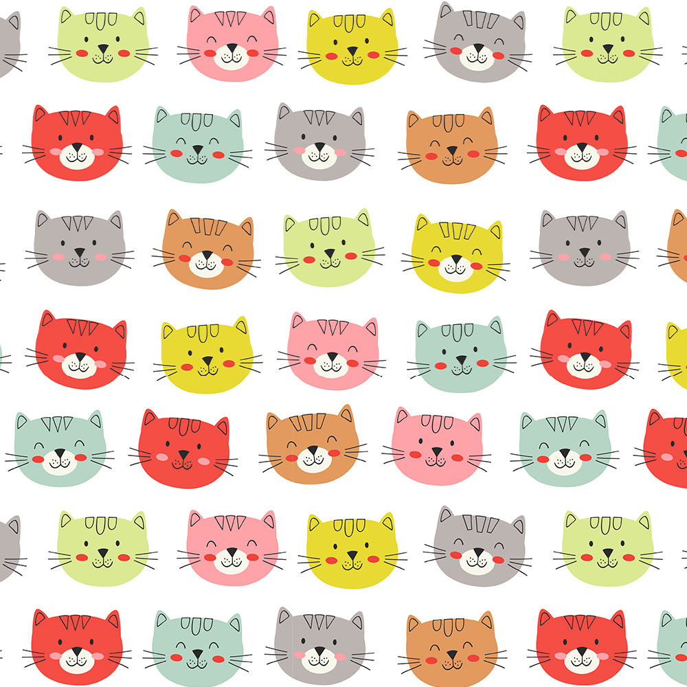 Smiley Cats Faces :: Cat Lovers   Fabricart