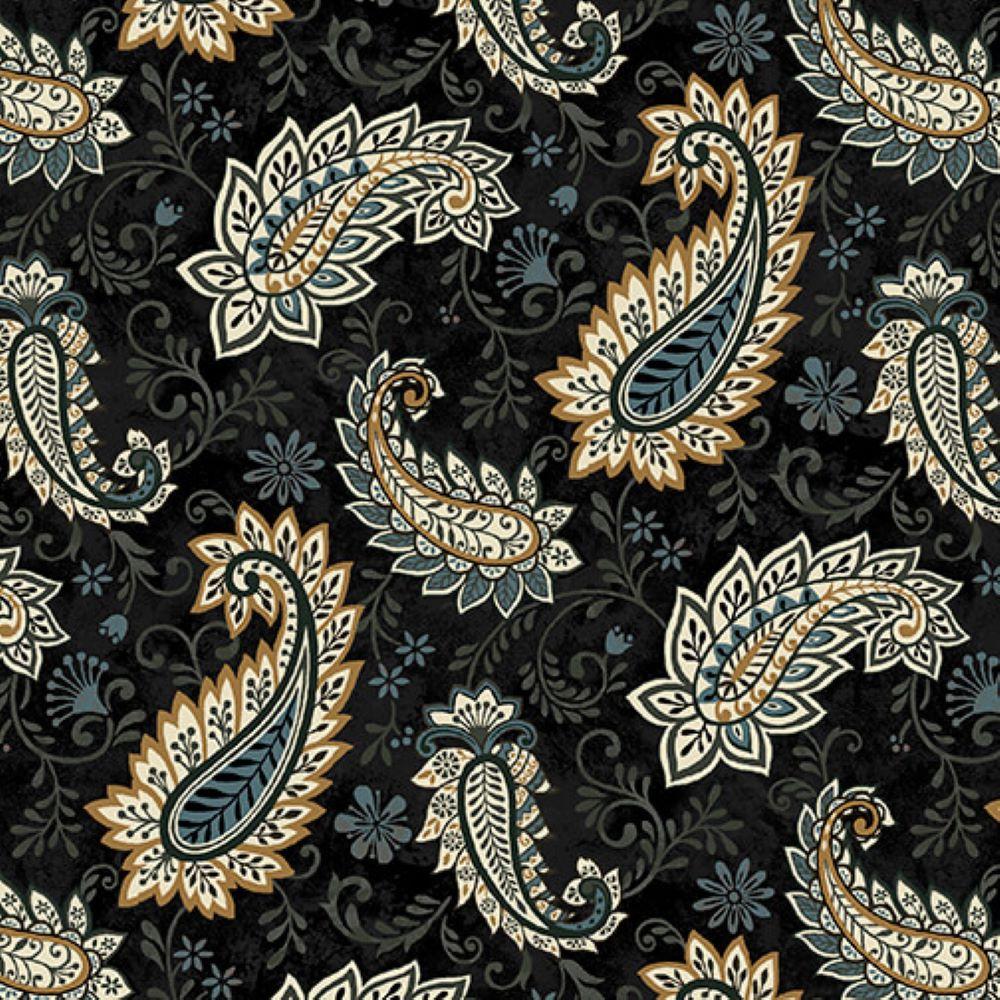 Le Poulet   Paisley - Black   Studio e Fabrics