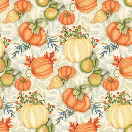 Pumpkin Spice   Small Tossed Pumpkins Multi   StudioE Fabrics