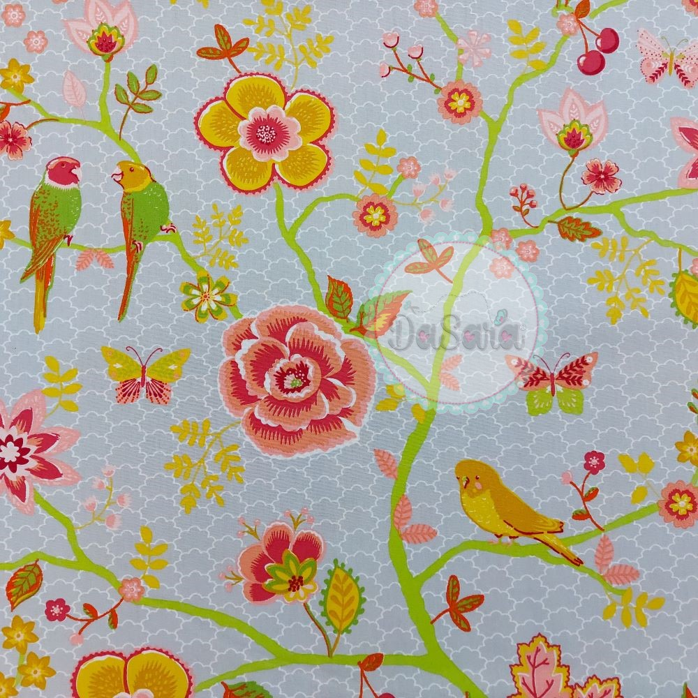 Happy Feelings | Cinza | Poppy Fabrics