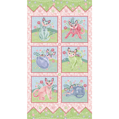 Fancy Cats | Panel | StudioE Fabrics