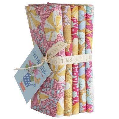 Gardenlife :: Bundle 5 FQ | Mustard / Pink | TILDA
