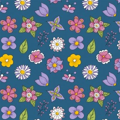 MINI FLOWER :: AZUL | FOFURICES | FABRICART