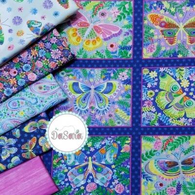 Panel :: Butterfly Blocks | Navy :: Wonderland | Blank Quilting