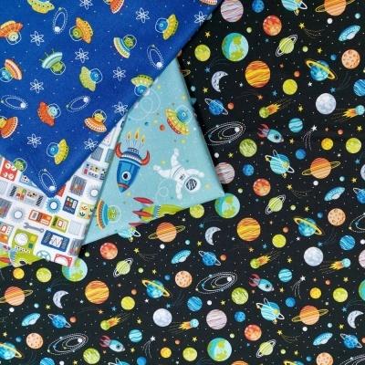 Outer Space | Scene - Teal | Makower UK
