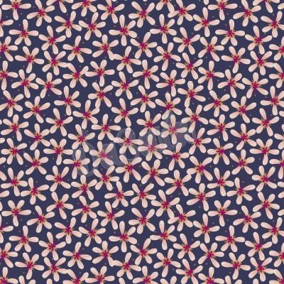 HUMMINGBIRD :: STRIPY FLOWERS | DARK BLUE