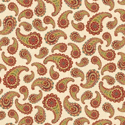 PAISLEY | IVORY :: AVIGNON | BLANK QUILTING