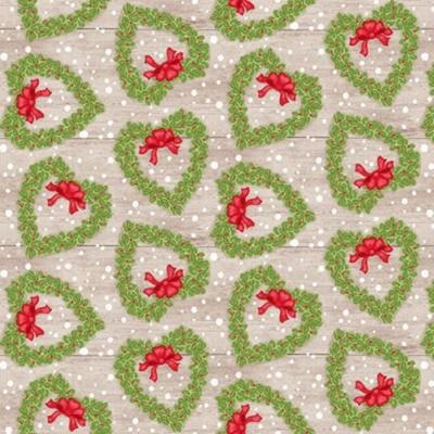 Snow Place Like Home | Tossed Wreath - Tan | Studio e Fabrics