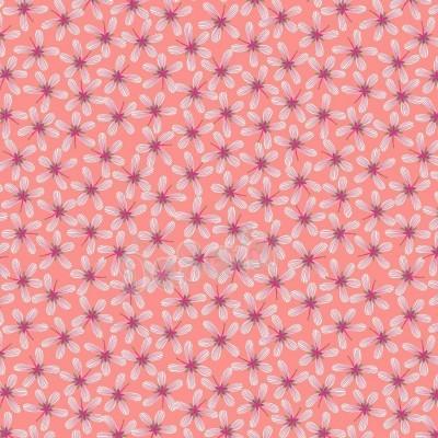 HUMMINGBIRD :: STRIPY FLOWERS | DARK BLUSH