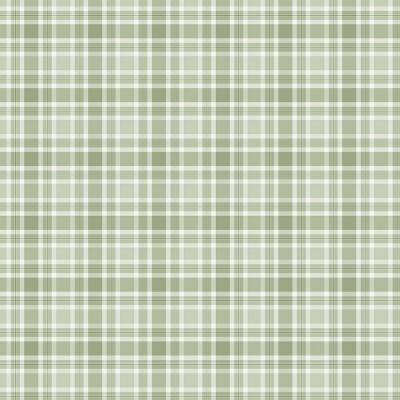 GREEN PLAID :: RED BLOSSOM | DIGITAL | FABRICART