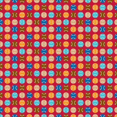 PUPPY LOVE :: DOTS | RED
