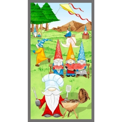 Hangin With My Gnomies | Gnome Panel - Green | Blank Quilting
