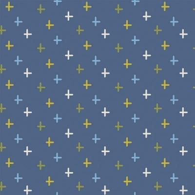 CROSS :: BLUE   OVER THE RAINBOW   FABRICART