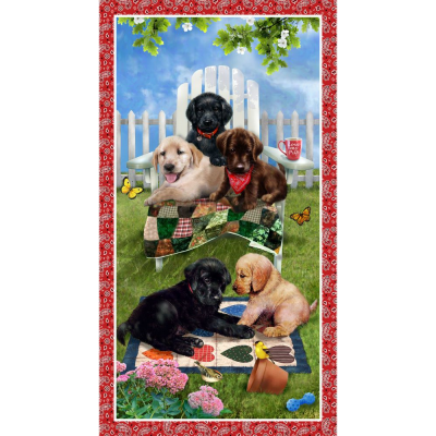 Banner Panel :: Pups in the Garden | Henry Glass