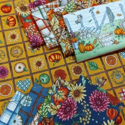 Sweater Weather | Crazy Quilt - Orange | Maywood Studio