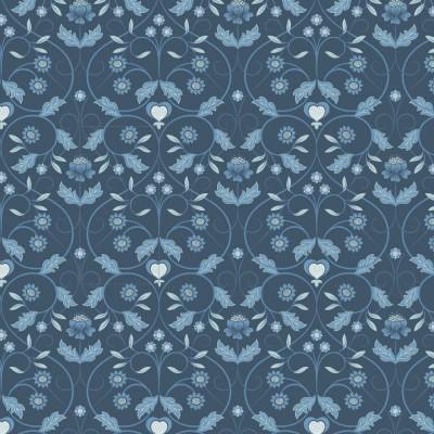 MONO FLORAL :: BLUE | MICHAELMAS | LEWIS&IRENE