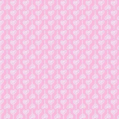 Pirulito de Corações Rosa Bebé   Basics Baby   Fabricart