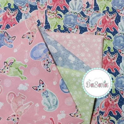 Fancy Cats | Tossed Cats | StudioE Fabrics