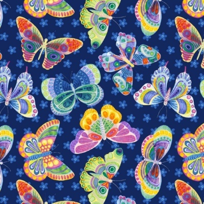 Butterfly Ditsy | Navy :: Wonderland | Blank Quilting