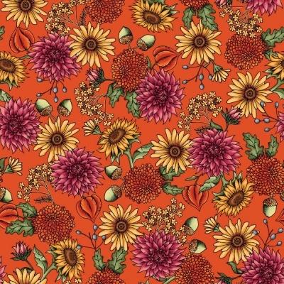 Sweater Weather   Flowers - Orange   Maywood Studio