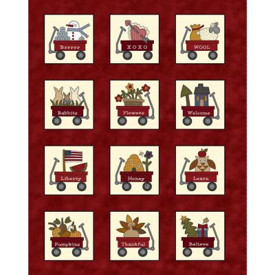 My Red Wagon   Calendar Panel   Henry Glass
