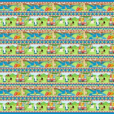Hangin With My Gnomies | Gnome Stripe - Light Blue | Blank Quilting
