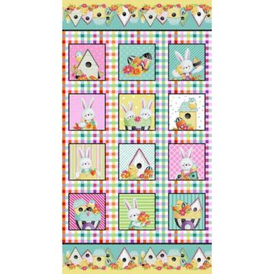 Easter Fun | Fun Block Panel  Pink/Multi | Henry Glass