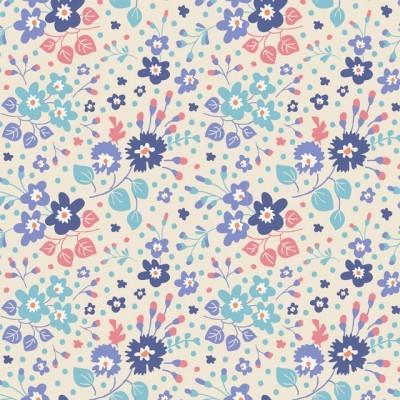 TILDA :: PLUM GARDEN | FLOWER CONFETTI | BLUE