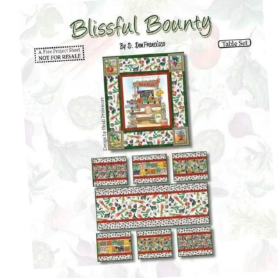 Blissful Bounty | Seed Blocks - White | Blank Quilting