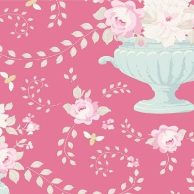 TILDA :: HAPPY CAMPERS | FLOWERBEES | ROSE