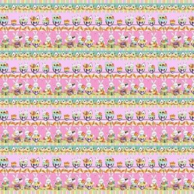 Easter Fun | Easter Border Stripe Pink/Multi | Henry Glass