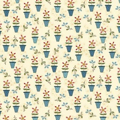 Backyard Happenings | Flower Pots - Cream | Henry Glass