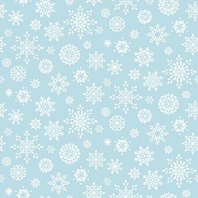 Peace and Goodwill   Snowflake - Light Blue   Studio e Fabrics