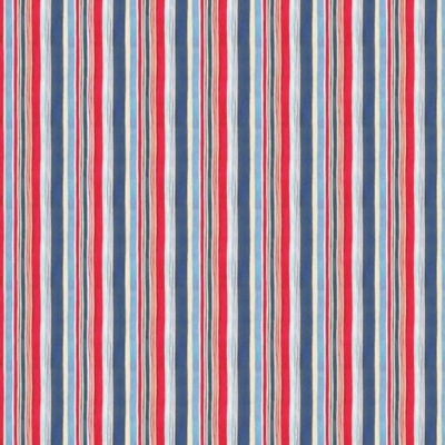 Harbor Days | Stripe | Red | Blank Quilting