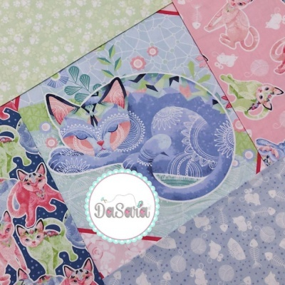 Fancy Cats | Cat Toys :: Blue | StudioE Fabrics