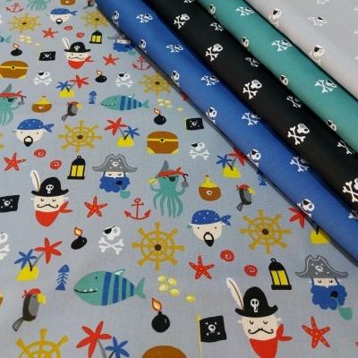 Pirates | Skulls | Black | Poppy Fabrics