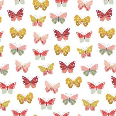 BUTTERFLIES LOVE FLOWERS | BRANCO | POPPY