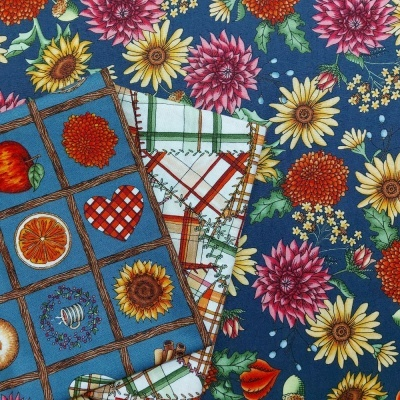 Sweater Weather | Flowers - Navy | Maywood Studio