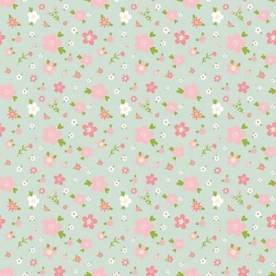 SWEET BABY GIRL :: FLOWERS | MINT
