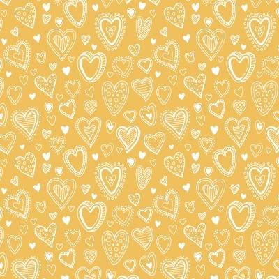 Multi Corações   Amarelo   Basics & Colors   Fabricart
