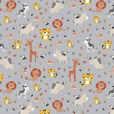 JUNGLE BABY ANIMALS   CINZA   POPPY