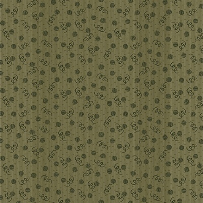 Abby's Treasures | Dots & Curly Q's | Green | Blank Quilting